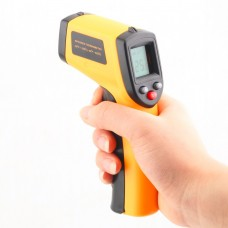 Bevielis lazerinis LCD termometras