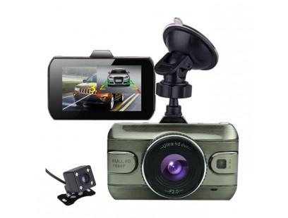 Automobilinis video registratorius + galinio vaizdo kamera Podofo