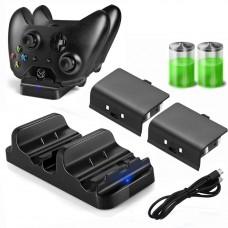 Xbox one žaidimų pultų įkrovėjas + 2 baterijos